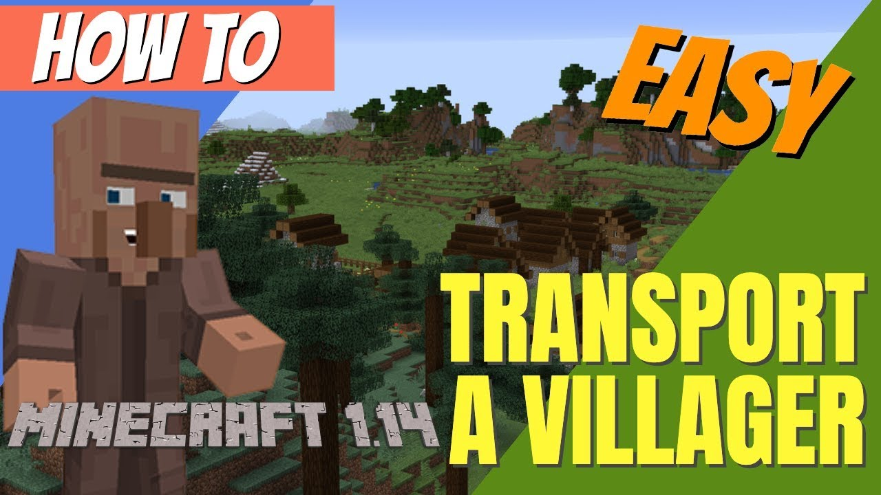 How to Find, Get and Move a Villager in Minecraft 10.104: Minecraft Villager  Transport (Avomance 20109)