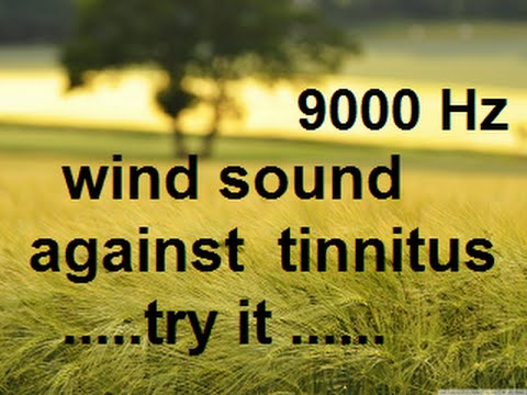 10 minutes wind at 9000 Hz as sound therapy for tinnitus