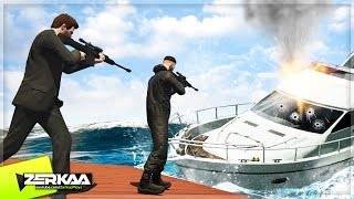 SNIPERS VS BOATS (GTA 5 Funny Moments)