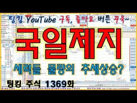 [정규방송] 국일제지 - 세력들 물량의 추세 상승인가요? - 주식 팅킹 (1369화)