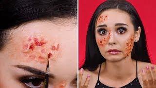 Burnt Face Look   Easy Halloween Makeup Tutorial   Weird Makeup Ideas by Blusher