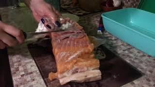 Засолка малосольной семги. ПП. Полезные рецепты от Елены Мурыгиной. Дачная жизнь ТВ.