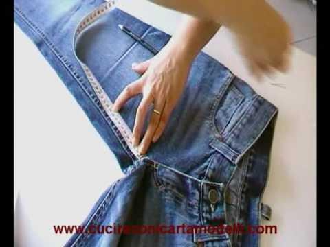 Come riciclare un pantalone jeans e trasformarlo in un short alla moda 1a parte  YouTube