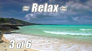 Ocean Sounds BAHAMAS BEACH #3 Waves Relaxation Relaxing Nature for Studying Relax no music