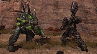 Halo Reach AI Battle - Hunters vs Brute Chieftains