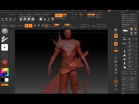 Zbrush character digital sculpt - 12 - 1st pass Belt, Pants cloth, fill holes (IMPT)