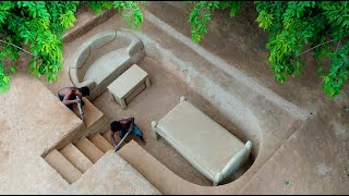 Building The Most Creative Private Underground Living Room In Underground House