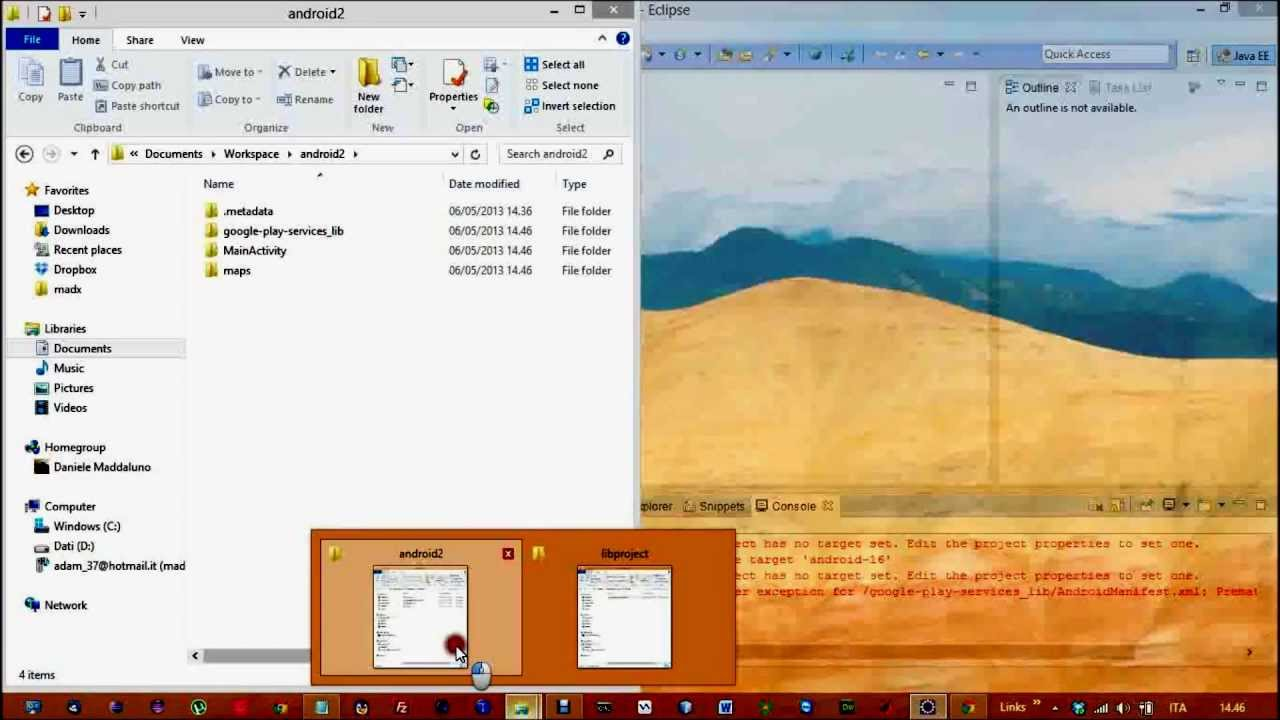 Setup Google Play Services and run the sample Google Maps Android API v2