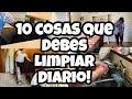 10 COSAS QUE DEBES LIMPIAR A DIARIO! | LIMPIEZA DIARIA EN EL HOGAR!