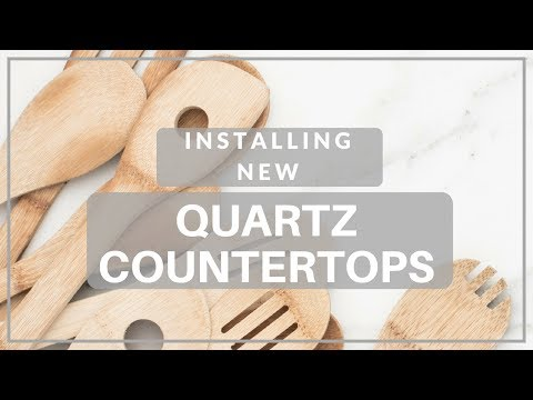 Installing New Quartz Countertops   Kitchen Renovation
