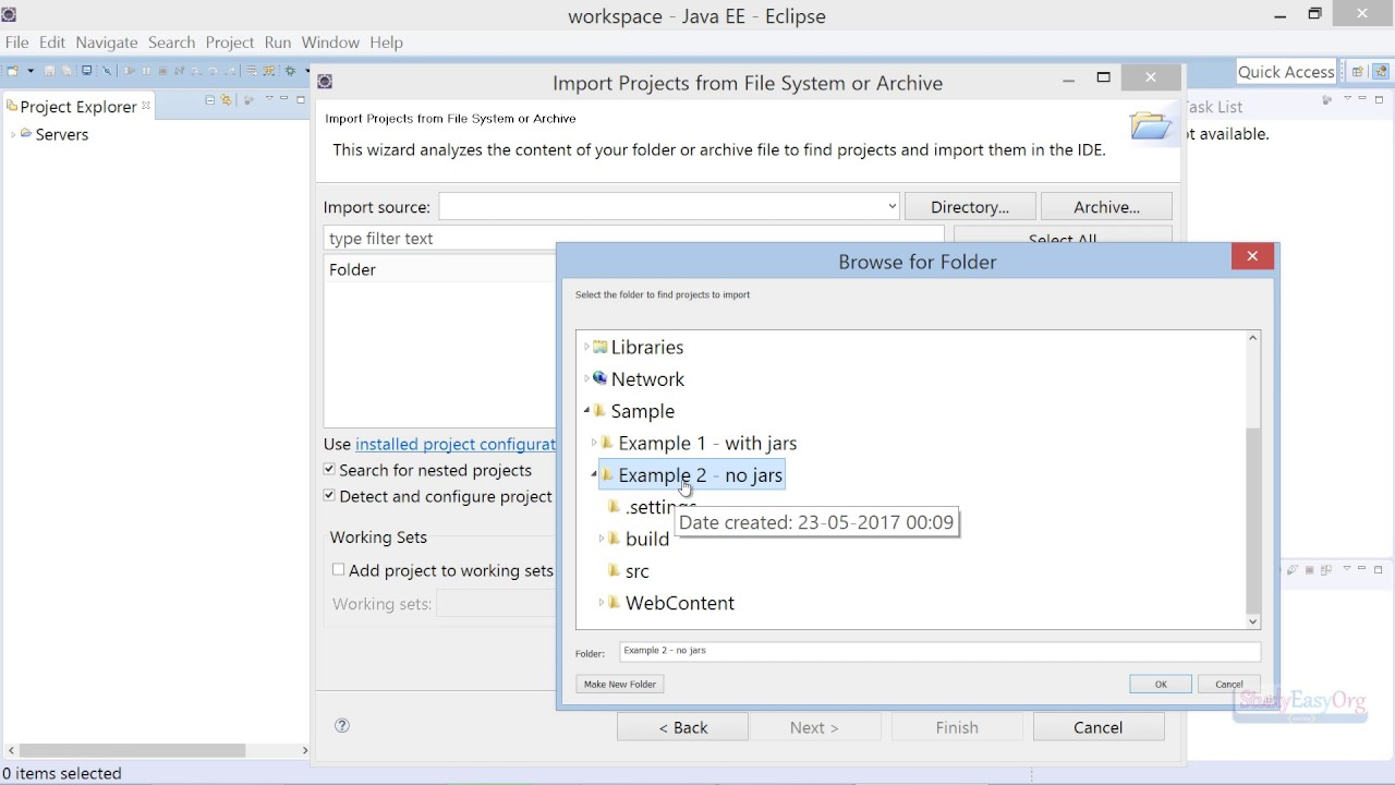 How to import and export project in Eclipse