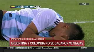 Argentina vs Colombia 0-0 Amistoso  Resumen
