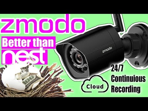 Zmodo Outdoor Wifi HD Camera Review | BUDGET 2019