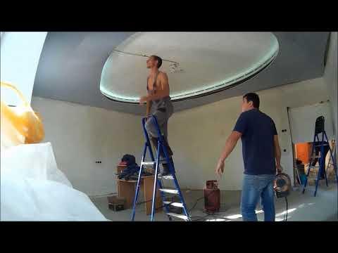 Натяжной потолок  Двухуровневый с подсветкой Подробно
