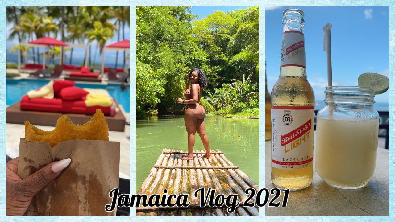 JAMAICA 2021 TRAVEL VLOG Luxury S Hotel Montego Bay, Bamboo Rafting, Spa Day, GOOD FOOD! SUN & BEACH