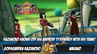 Godsgarden Kazunoko shows off his Android 17 Team Synergy against Nanako![DBFZ]