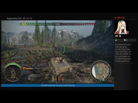PS4-Live-Übertragung world of tanks T22 Proto german