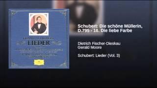Schubert: Die schöne Müllerin, D.795 - 16. Die liebe Farbe