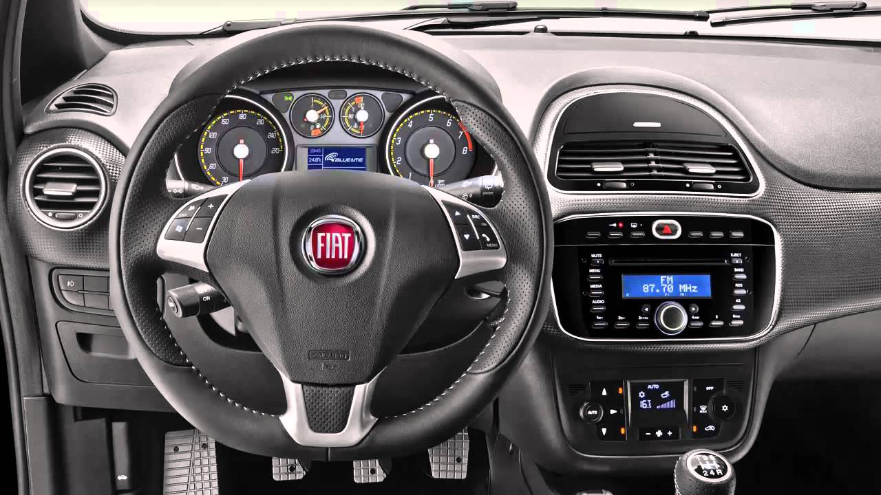 Car Interior Fiat Punto 2014 - YouTube