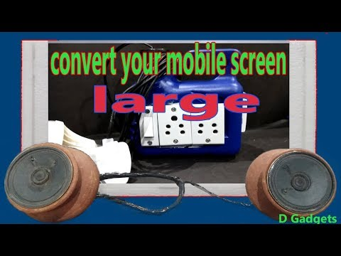 Convert your mobile screen into large screen by using Fresnel lens