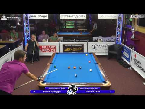 Stuttgart Open 2017, No. 25, Pascal Nydegger vs. Kevin Schiller, 10-Ball, Pool-Billard