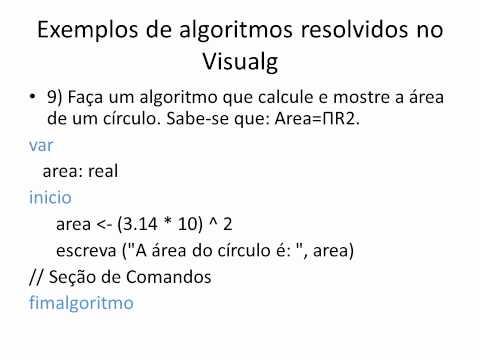 18 algoritmos resolvidos - Visualg