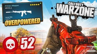 ANOTHER 52 KILL GAME - INSANE M4A1 LOADOUT in CoD WARZONE