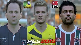 PES 2015 no PC - Patch BMPES 3.0 Totalmente Atualizado - Brasileirão Série A, B e C + Bundesliga