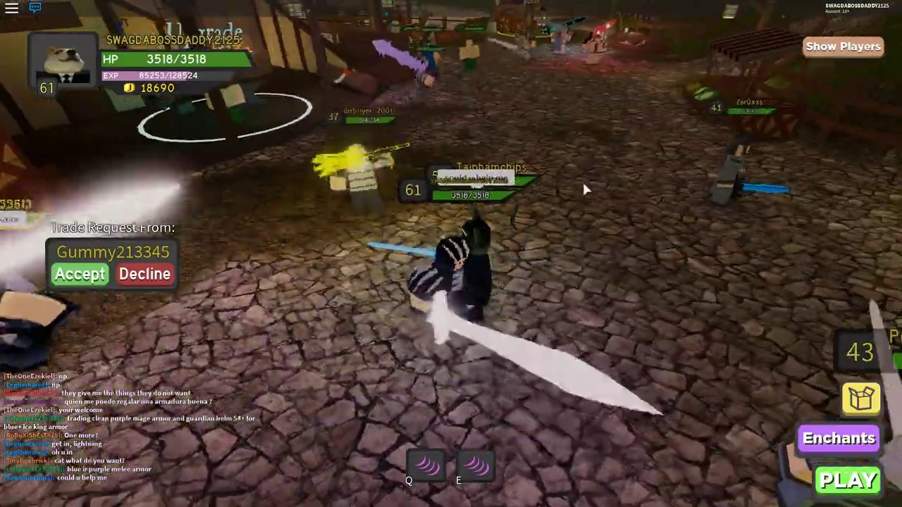 Dungeon Quest How To Get The Crystalized Greatsword Youtube