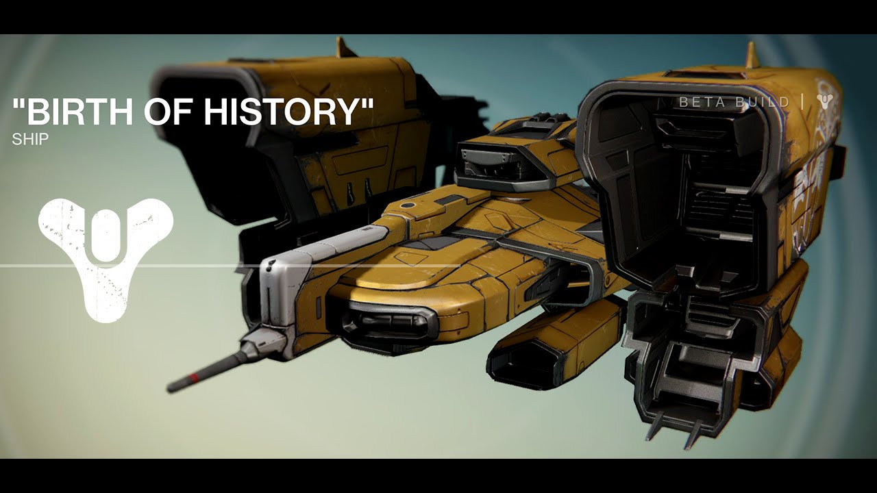 Destiny Beta First Legendary Ship Flies A Wizard To The Moon