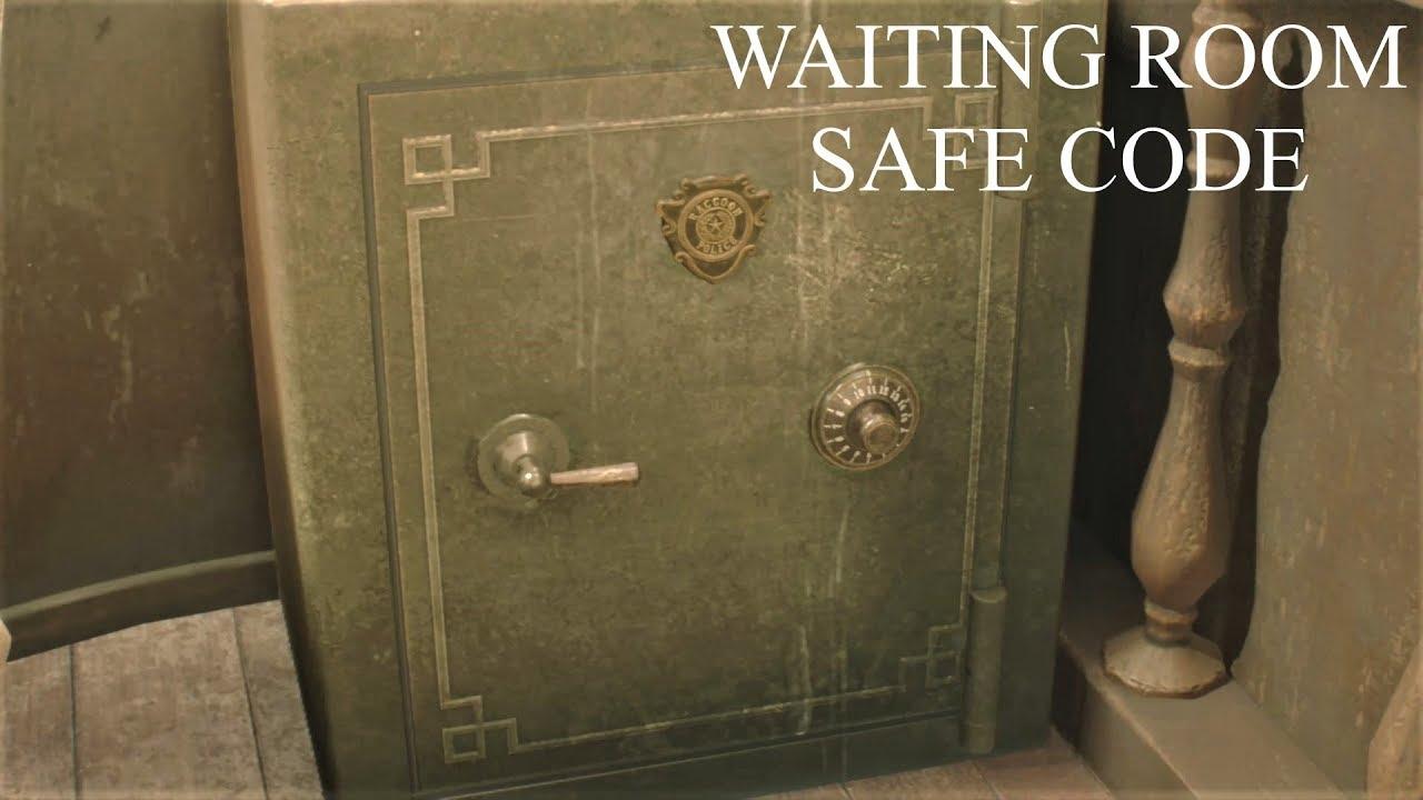 resident evil 2 remake waiting room safe code location
