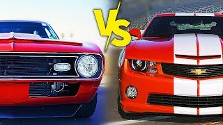CAMARO vs CAMARO ANTIGO no GTA 5