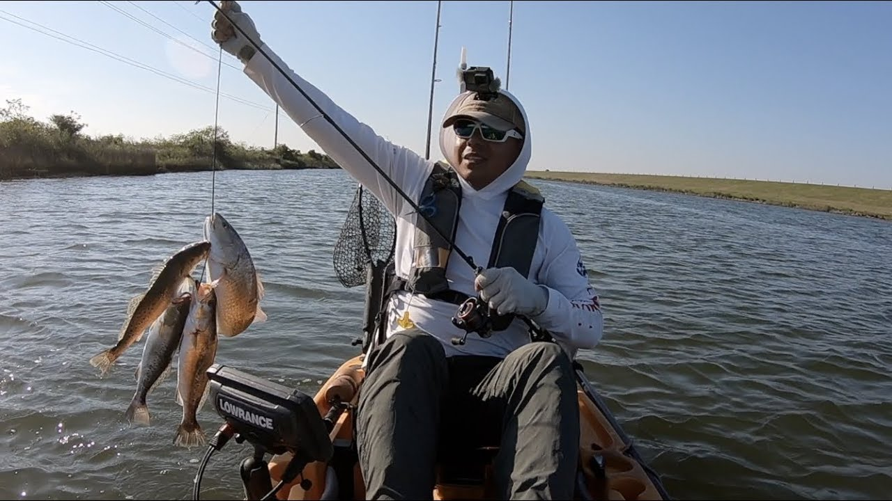 Kayak fishing texas city got a great stringer youtube for Kayak fish stringer