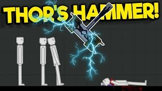 Thor's Hammer is the Best Weapon in the Game! - People Playground Gameplay