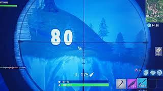 Longest fortnite Sniper shot ever..new World record 418meters!!!