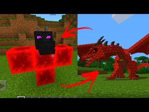 майнкрафт пе с драконами и лошадьми #4
