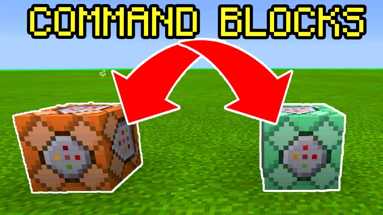 How To Use COMMAND BLOCKS in Minecraft Pocket Edition!! COMMAND BLOCK  Minecraft PE Update