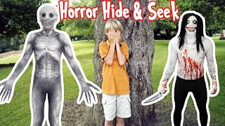 Horror Hide and Seek in Scary Costumes