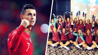 Cristiano Ronaldo's wonderful gift for Portugal's U17 women | Oh My Goal