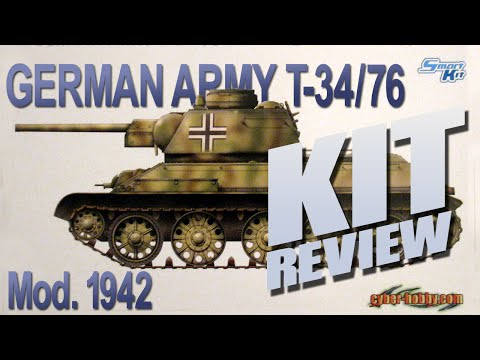 Kit Review: Cyber-Hobby 6486 German Army T-34/76 Mod 1942 Ca