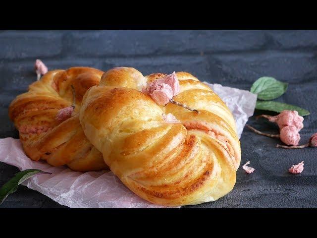 桜餡パン |  SAKURAANPAN  cherry blossom flavored Bread