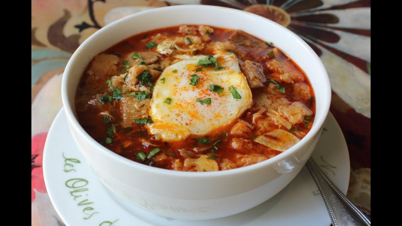 Spanish Garlic Soup - Sopa de Ajo Recipe - Bread and Garlic Soup ...