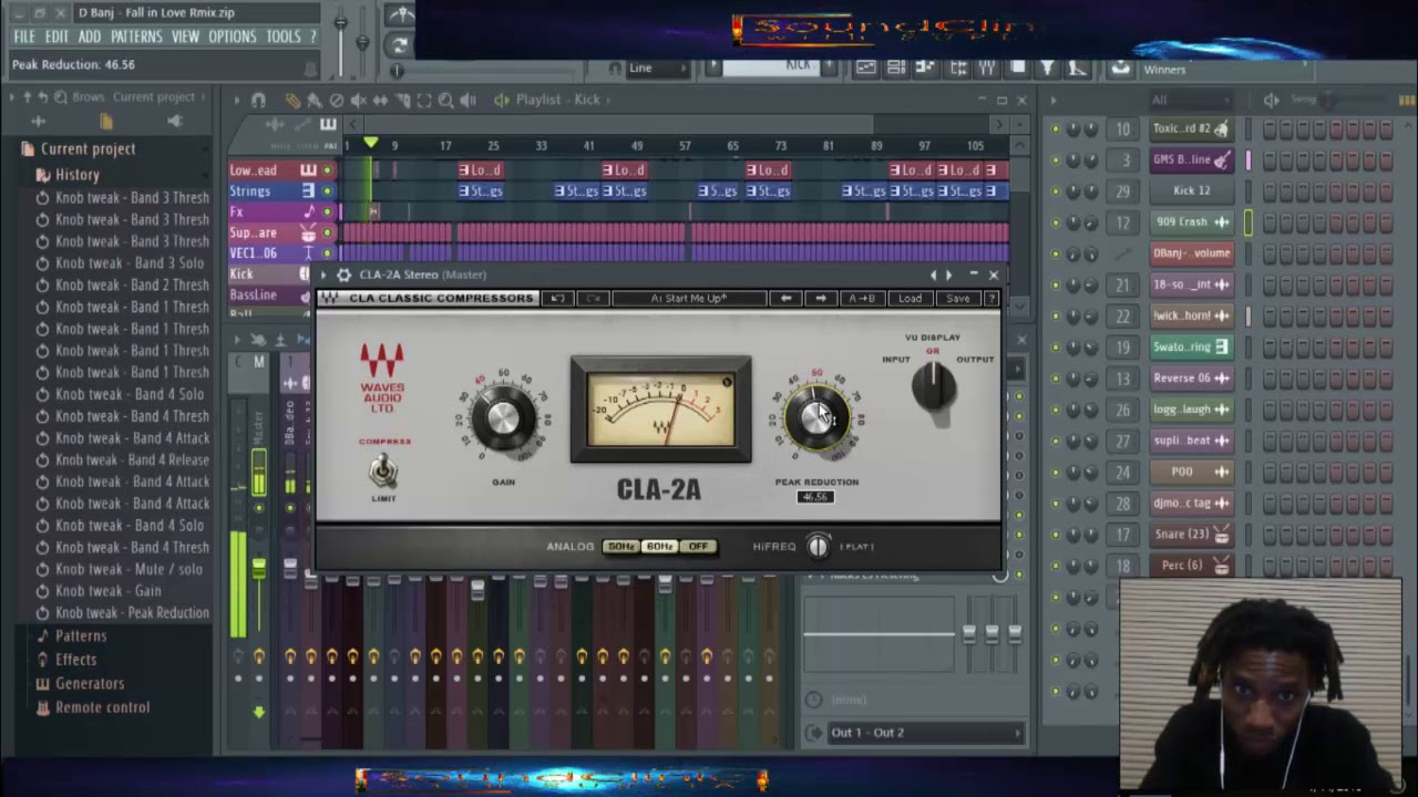 Suplia's Full mastering session on D'Banj   Fall in Love (Remix)