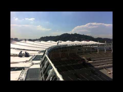 Estadio do Maracana - membrane installation - 18.03.2013