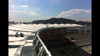 Estadio do Maracana - membrane installation - 18.03.2013