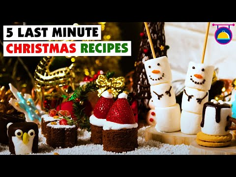 5 Last Minute Christmas Recipes | DIY Dessert Decoration | Christmas Food Hacks By Deli Wow