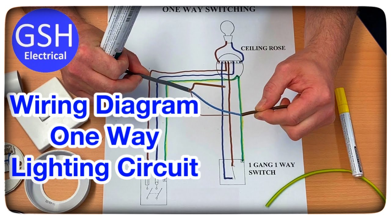 Wiring Diagram For A One Way Lighting Circuit Using The 3 Plate Method Connections Explained Youtube