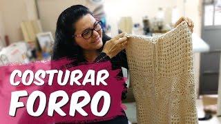 Como costurar FORRO em saia de crochê