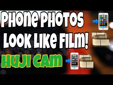 Make Phone/Digital photos look like FILM (HUJI CAM app) - 2017