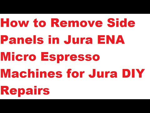Jura ENA Micro 9: Remove Side Panels to Open the Machine